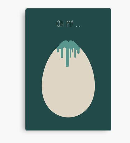 Alien Minimalist Series - Alien Egg Canvas Print