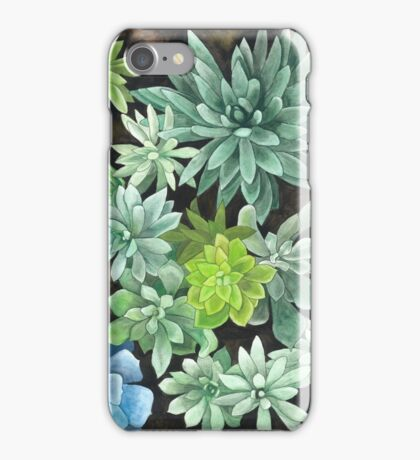 Watercolor Succulents iPhone Case/Skin