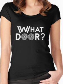 What Door? (White) Women's Fitted Scoop T-Shirt