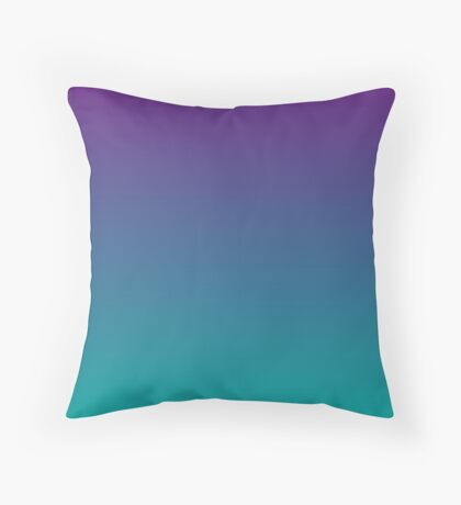Ombre | Purple and Teal Throw Pillow