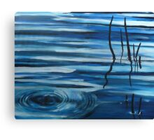 Reflections in still water Canvas Print