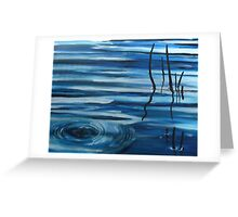 Reflections in still water Greeting Card