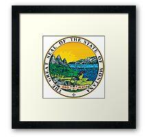 Montana seal Framed Print