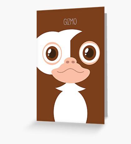 Gremlins Minimalist Series - Gizmo Greeting Card