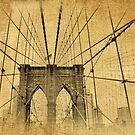 Brooklyn Bridge Postcard II by Jessica Jenney