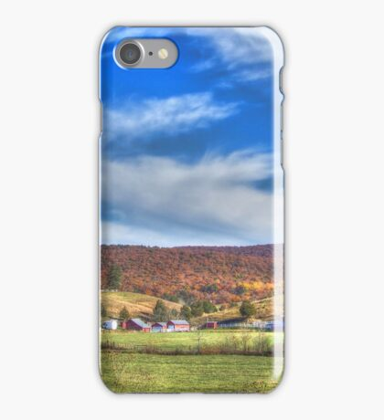 A Farm In Autumn iPhone Case/Skin