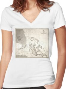 United States - Atlantic coast - 1863 Women's Fitted V-Neck T-Shirt