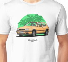 Volkswagen Golf 3 GTi (yellow) Unisex T-Shirt