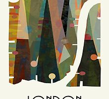 london city map abstract  by bri-b