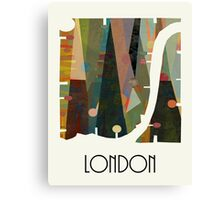 london city map abstract  Canvas Print