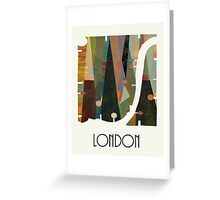 london city map abstract  Greeting Card