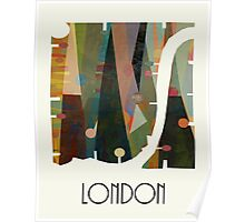 london city map abstract  Poster