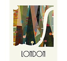 london city map abstract  Photographic Print