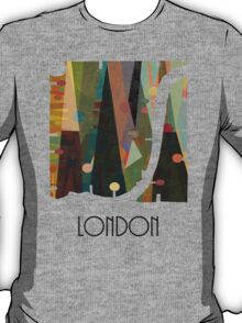 london city map abstract  T-Shirt