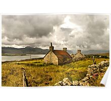 Ruined cottage in scenic Scotland Poster