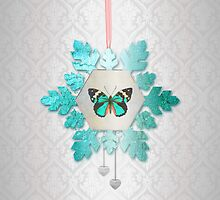 Snowflake and Butterfly by Eva Nev