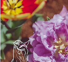 Tulips and Horse by sgbphotos