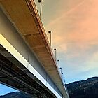 Danube river bridge   architectural photography by Patrick Jobst