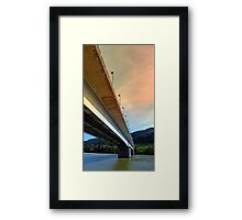 Danube river bridge | architectural photography Framed Print