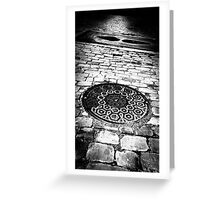 what lies beneath these streets of gold Greeting Card
