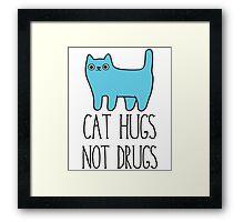 Cat Hugs, Not Drugs Framed Print