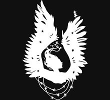 Black-Winged Angels (in white) Unisex T-Shirt