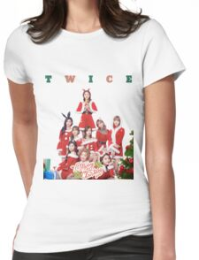 TWICE XMAS Womens Fitted T-Shirt