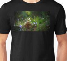 Mushroom and Flowers in the Rain Unisex T-Shirt