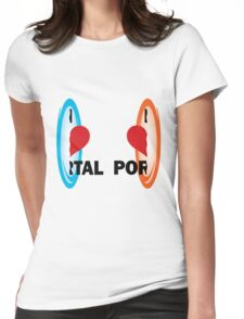 I love Portal! Womens Fitted T-Shirt