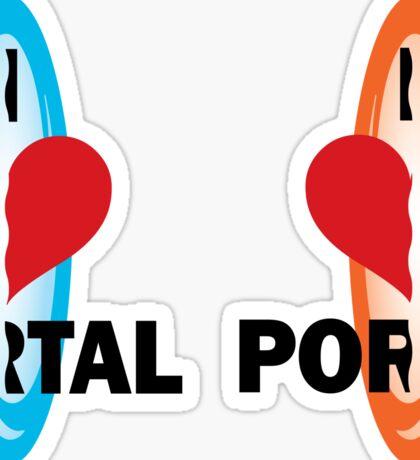 I love Portal! Sticker