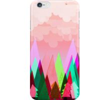 Misty Mountains (pink) iPhone Case/Skin