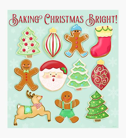 Baking Christmas Bright Photographic Print