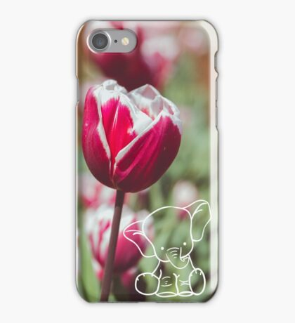 Tulips and Elephants iPhone Case/Skin