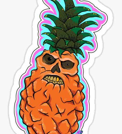 The Angry Pineapple Sticker