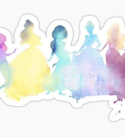 The Colors of the Princesses Sticker