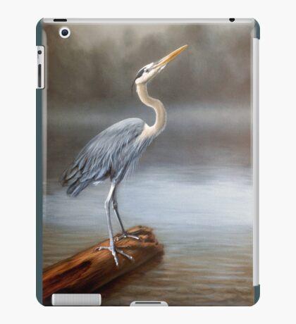 Blue Heron Oil Painting Print iPad Case/Skin