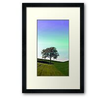 Lonely tree in the middle of nowhere | landscape photography Framed Print