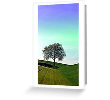 Lonely tree in the middle of nowhere | landscape photography Greeting Card