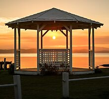 Sunset Gazebo by amandaayre