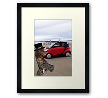 SMART BEARS DRIVE SMART CARS Framed Print