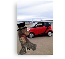 SMART BEARS DRIVE SMART CARS Canvas Print