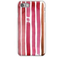 Watercolor abstract lines iPhone Case/Skin