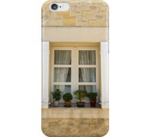 window with flowers and open shutters. iPhone Case/Skin