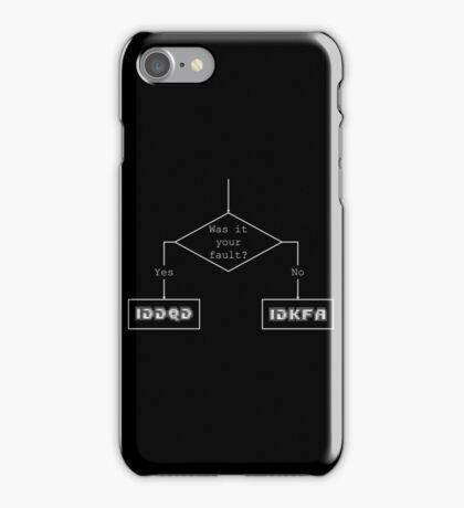 Was it your fault? - flowchart iPhone Case/Skin