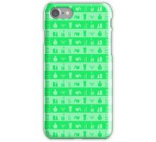Neon Green and Lime Womens Makeup and Beauty Stripes iPhone Case/Skin