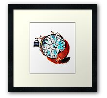Compass Fox Framed Print