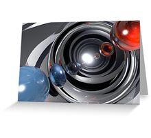 Abstract Camera Lens Greeting Card