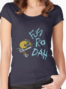 Fus Ro Dah Megaphone Women's Fitted Scoop T-Shirt