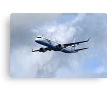 Flybe regional airline company Embraer 195 Canvas Print