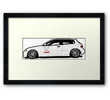 Civic EG Hatch Framed Print